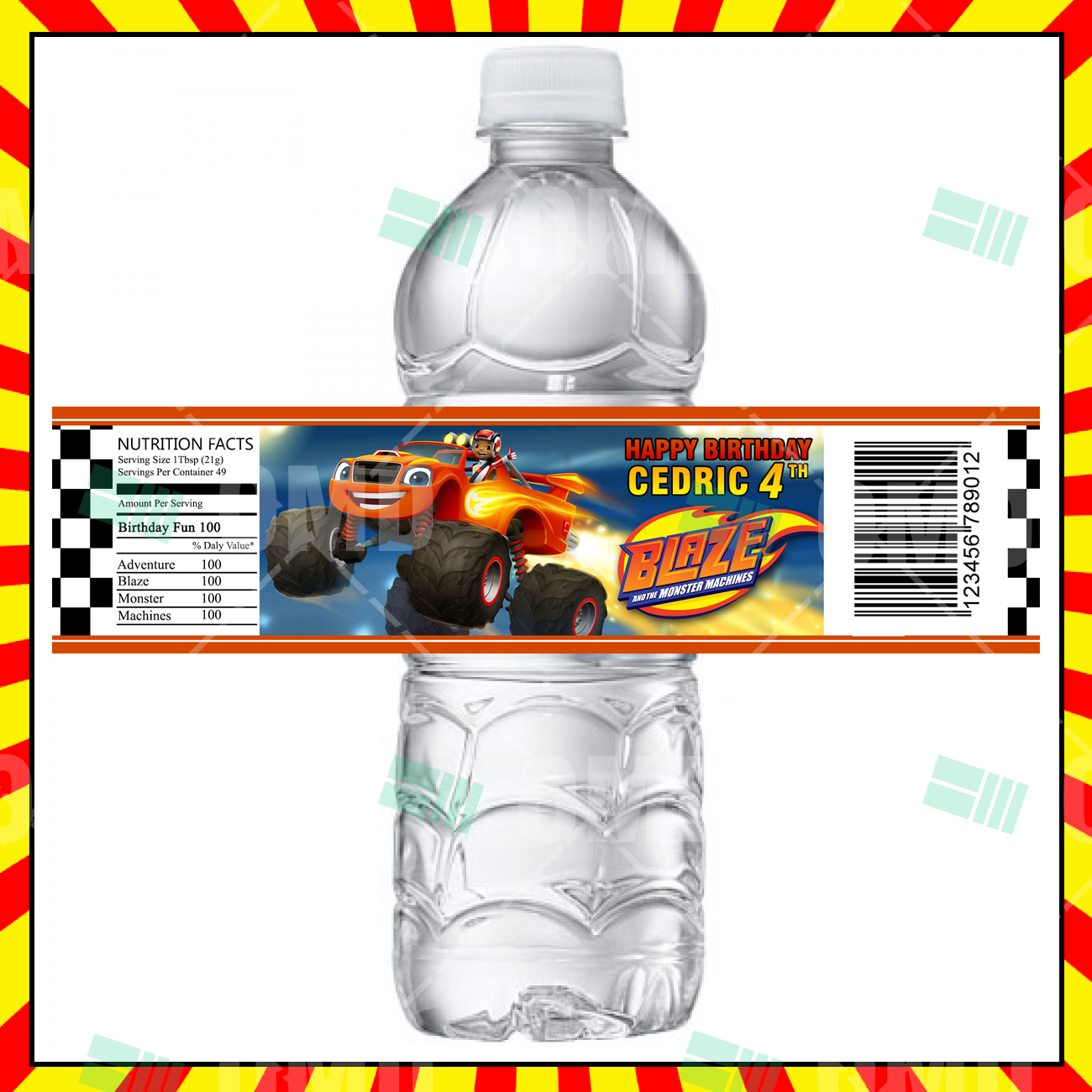 Blaze And The Monster Machines Party Bottle Labels – Cartoon Invites