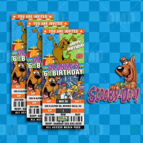ScoobyDoo Cartoon Party Bottle Labels Cartoon Invites – Scooby Doo Party Invites