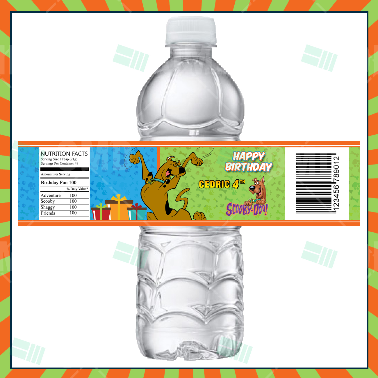 ScoobyDoo Cartoon Party Bottle Labels Cartoon Invites – Scooby Doo Party Invitations