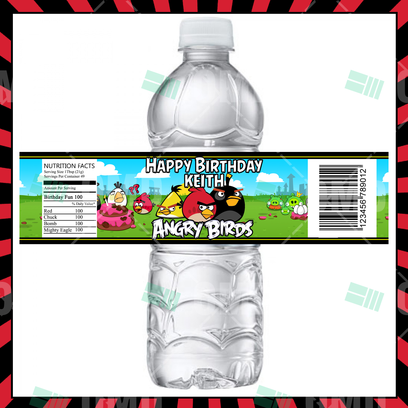 Angry Birds Party Bottle Labels – Cartoon Invites