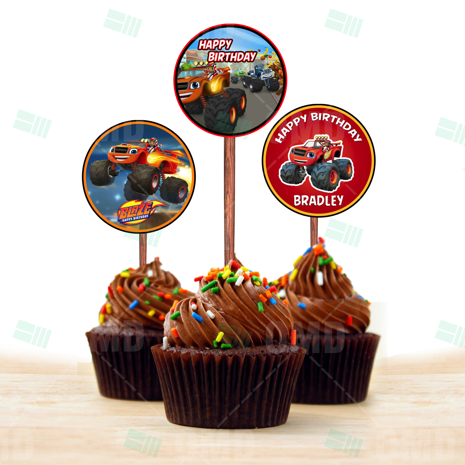 Blaze And The Monster Machines Cupcake Toppers – Cartoon ...
