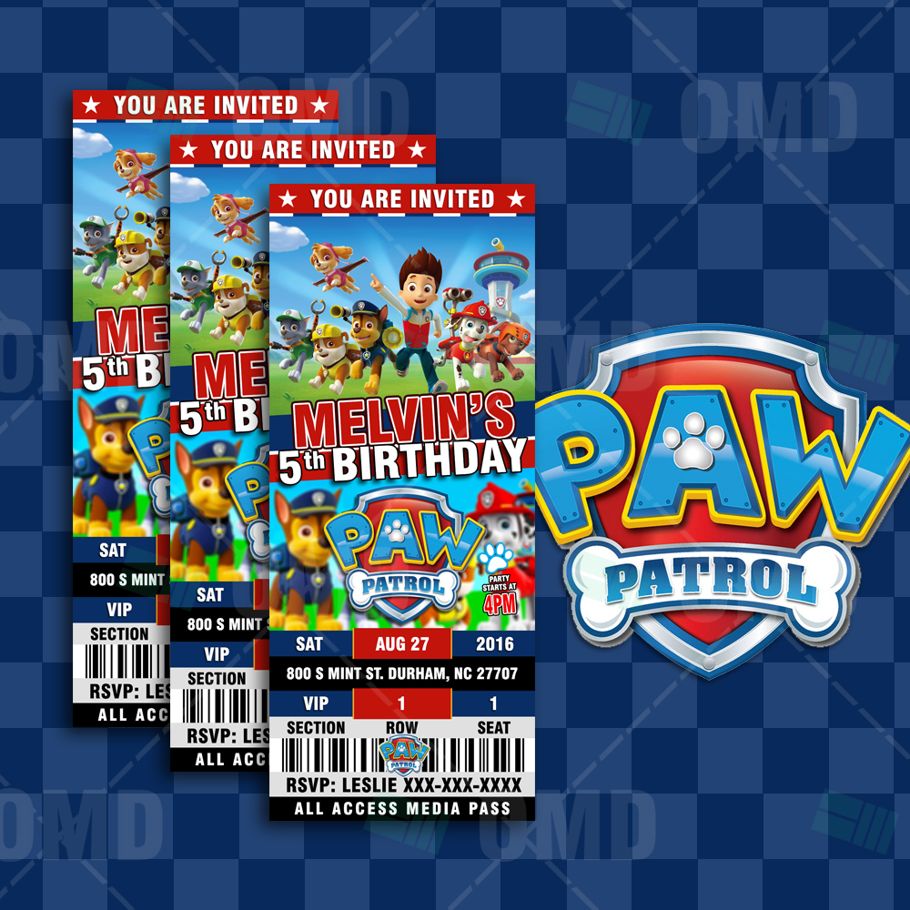 paw patrol ultimate party package  u2013 cartoon invites