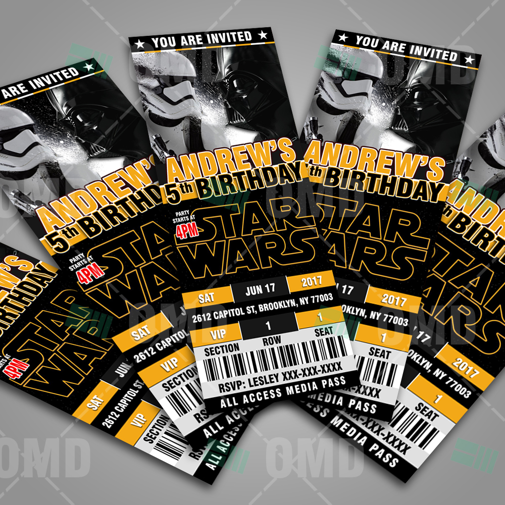 star wars invites - Ideal.vistalist.co
