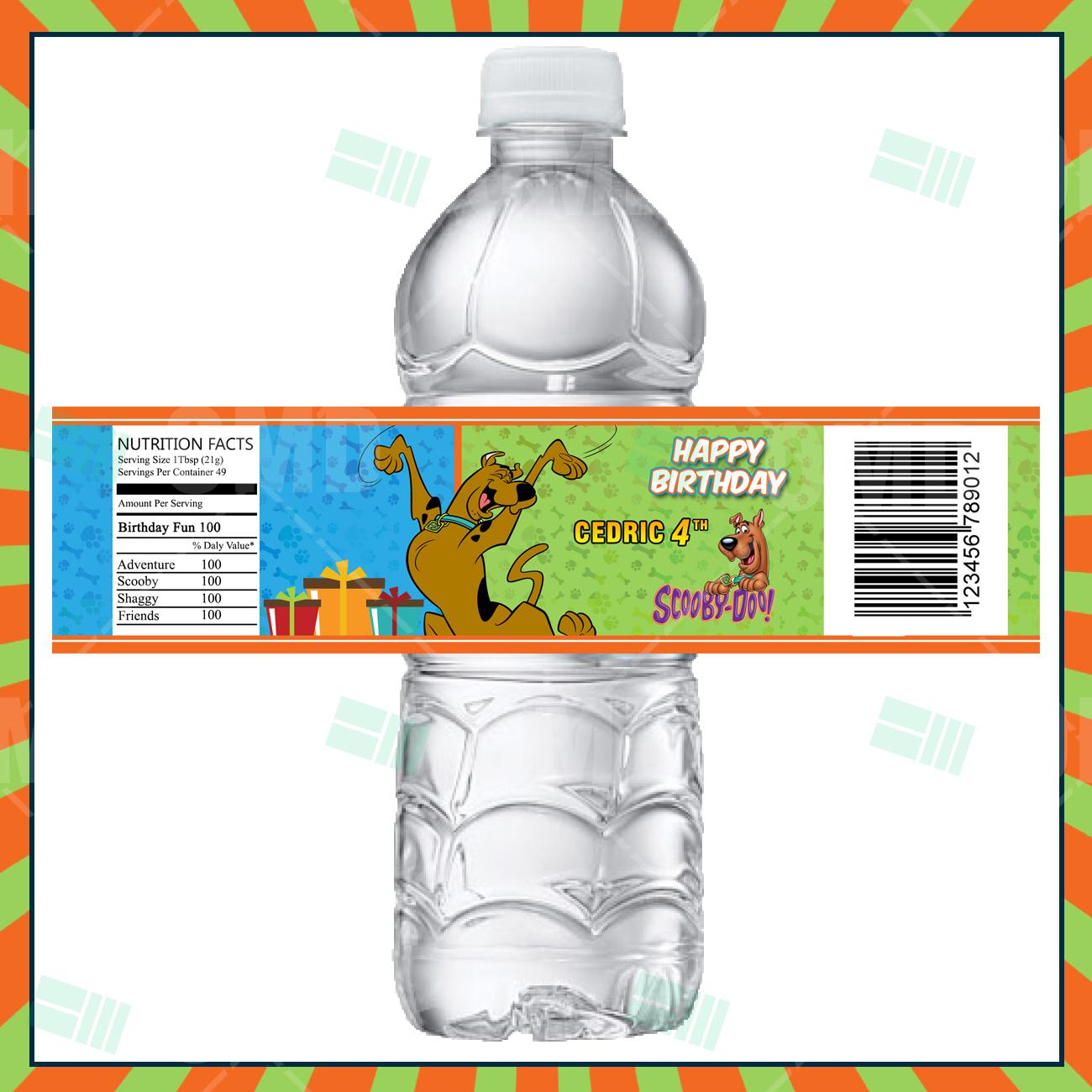 Scooby-Doo Cartoon Party Bottle Labels – Cartoon Invites