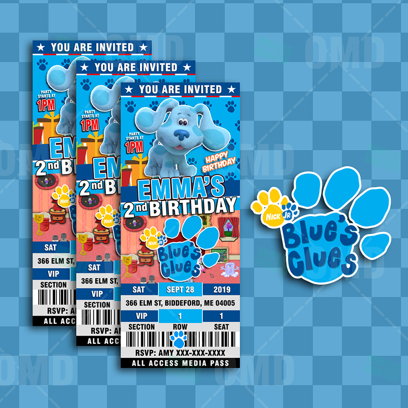 Blue S Clues Birthday Ticket Style
