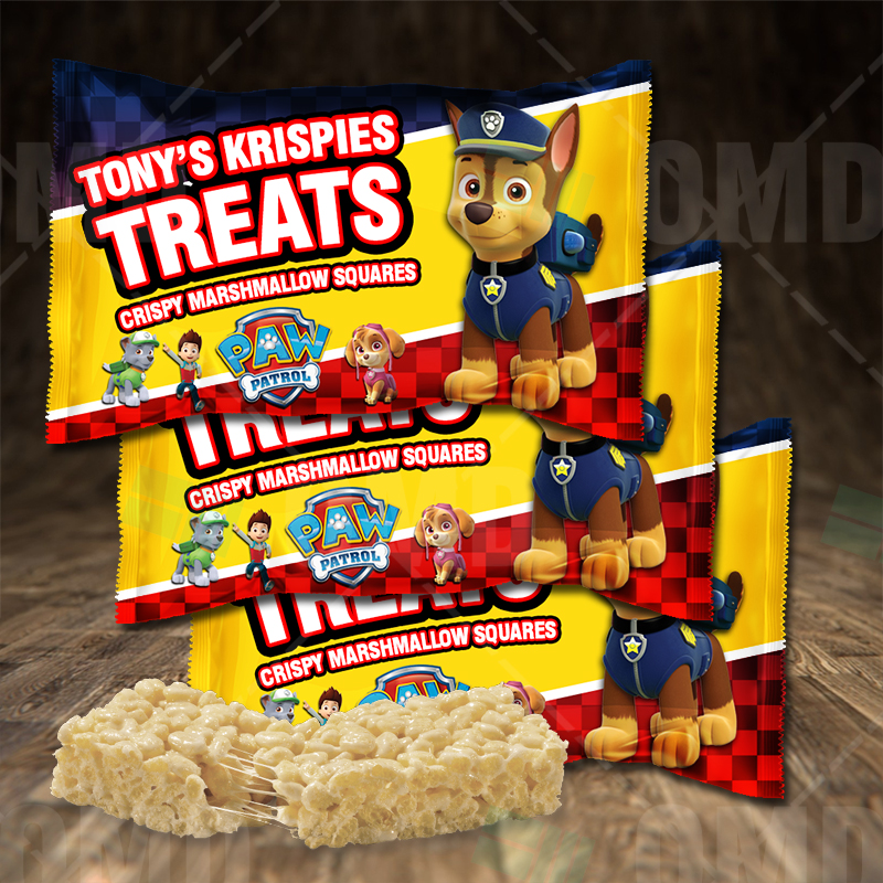Paw Patrol Cartoon Party Rice Krispies Treat Wrappers